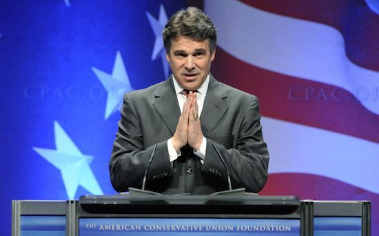 Perry makes remarks at the Conservative Political Action conference (CPAC) in Washington
